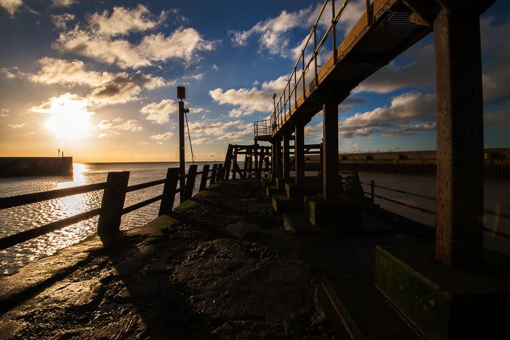 Shoreham sea defenses at sunrise, Shoreham Beach, Shoreham-by-Sea, West Sussex.  Landscape Photo by Jenny Rutterford Photography