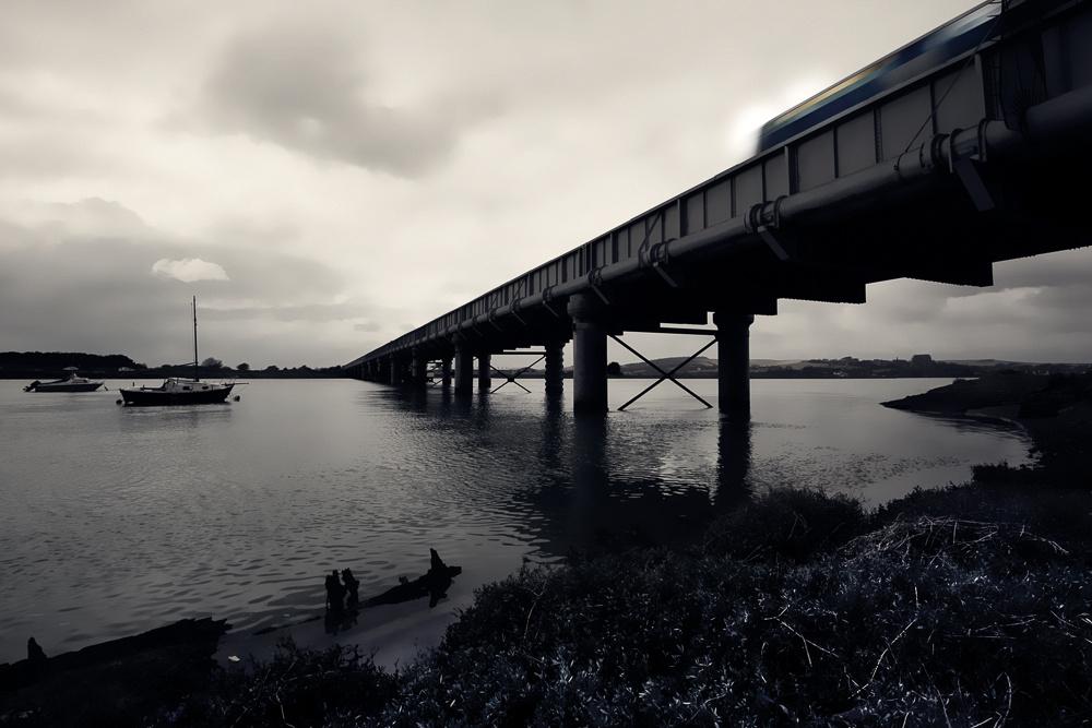 Train on Shoreham Rail Bridge, Shoreham-by-Sea, West Sussex.  Photo by Jenny Rutterford Photography