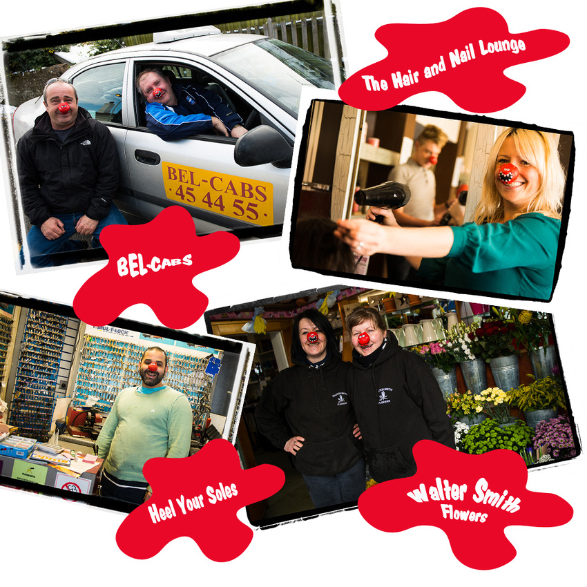 Red Nose Day!  Comic Relief in Shoreham-by-Sea.  Photos and collage by Jenny Rutterford Photography