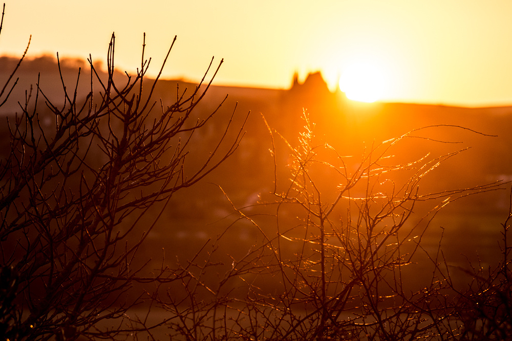 Sunset over Lancing College, from Mill Hill, Shoreham-by-Sea.  Photo by Jenny Rutterford Photography.