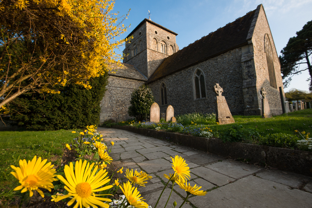 St Nicolas Church in the Spring, Shoreham-by-Sea. Photo by Jenny Rutterford Photography