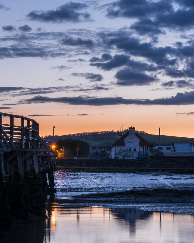 Sundown over the River Adur at Old Shoreham Tollbridge.  Photo by Jenny Rutterford Photography