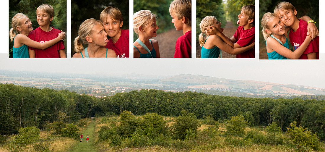 Fun portraits on the Steyning Horsehoe Walk, South Downs National Park.  Images by Sussex Wedding Photographer, Jenny Rutterford Photography.