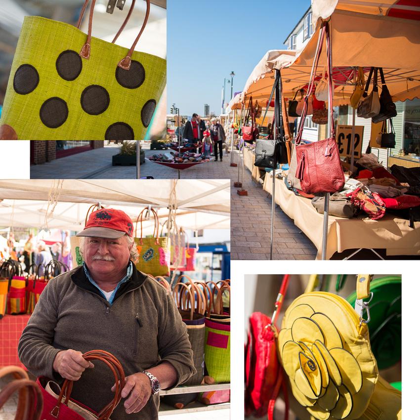 Selling handbags at Shoreham