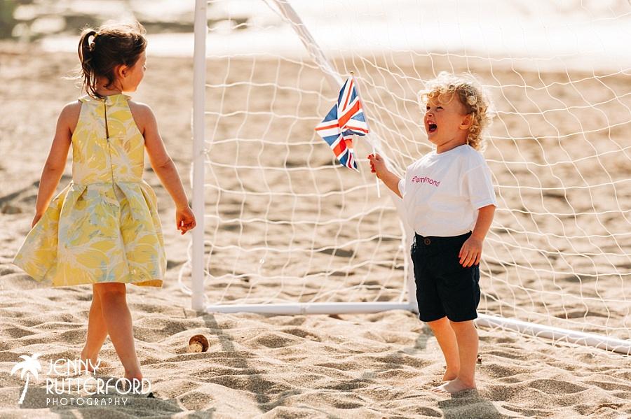 Flying the flag for Lusty Glaze Beach Weddings!