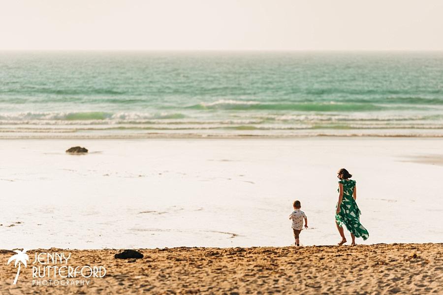 Guests enjoying stunning Lusty Glaze Beach Wedding