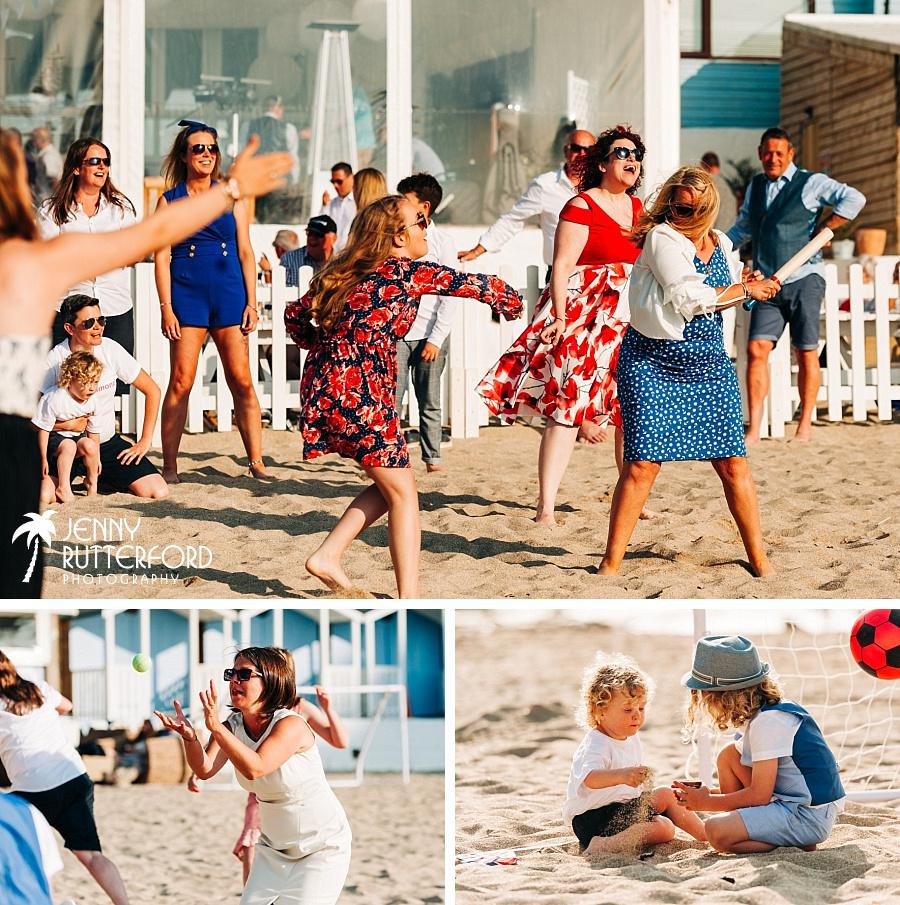 Games at Lusty Glaze Beach Wedding