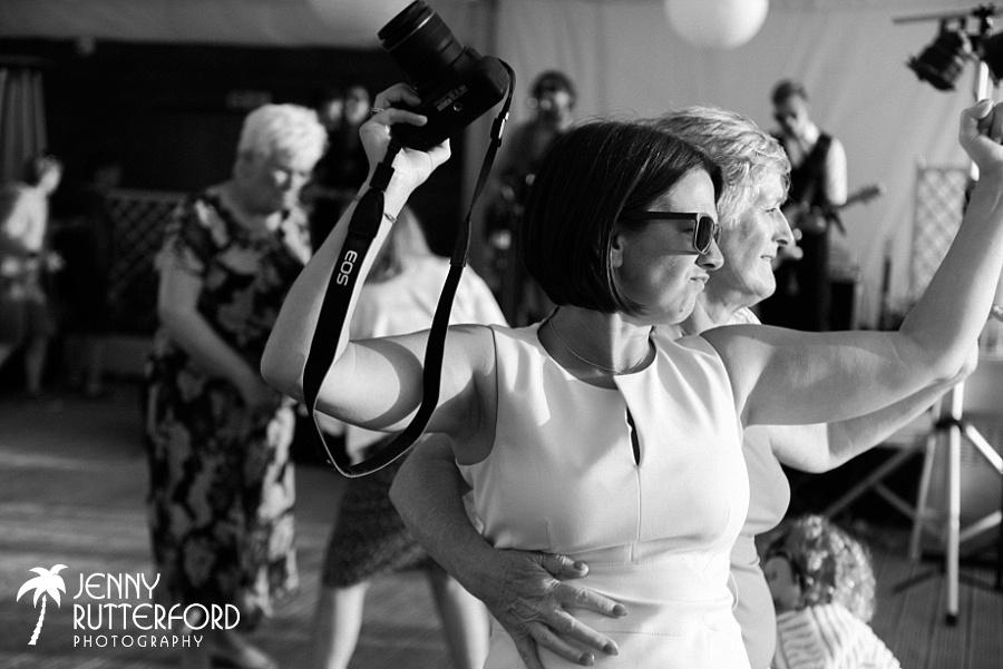 Dancing at Lusty Glaze Beach Wedding