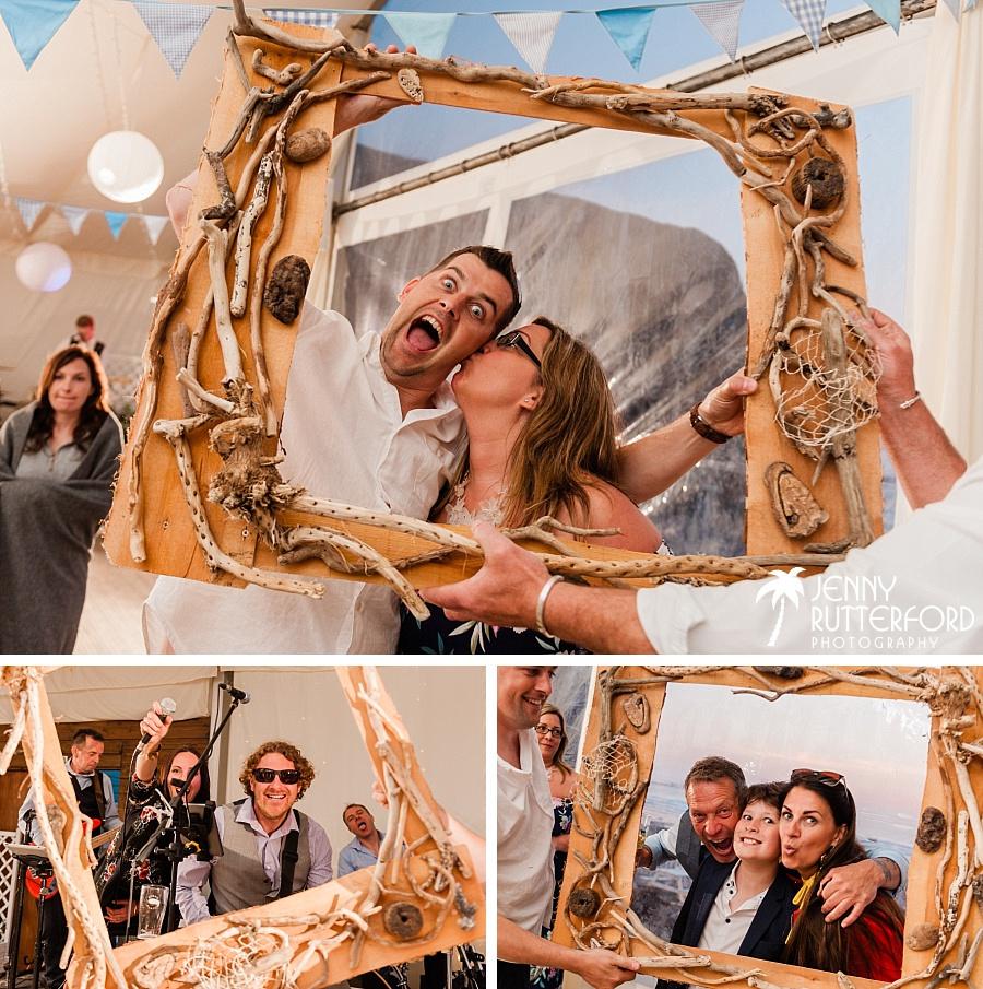 Guests at Lusty Glaze Beach Wedding