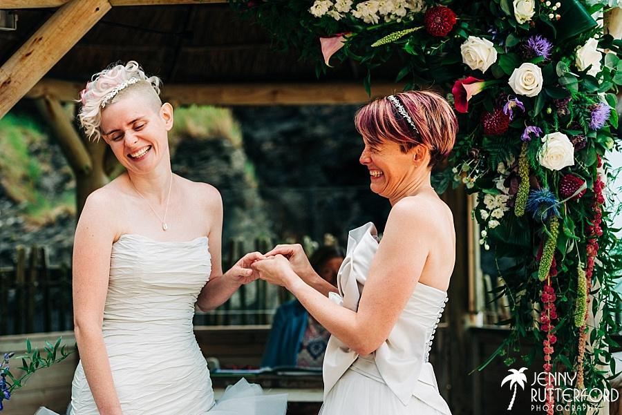 Same sex wedding at Tunnels Beaches
