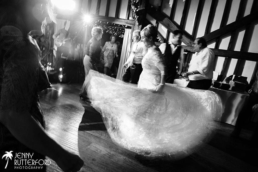 Bride dancing at Blackstock Country Estate wedding