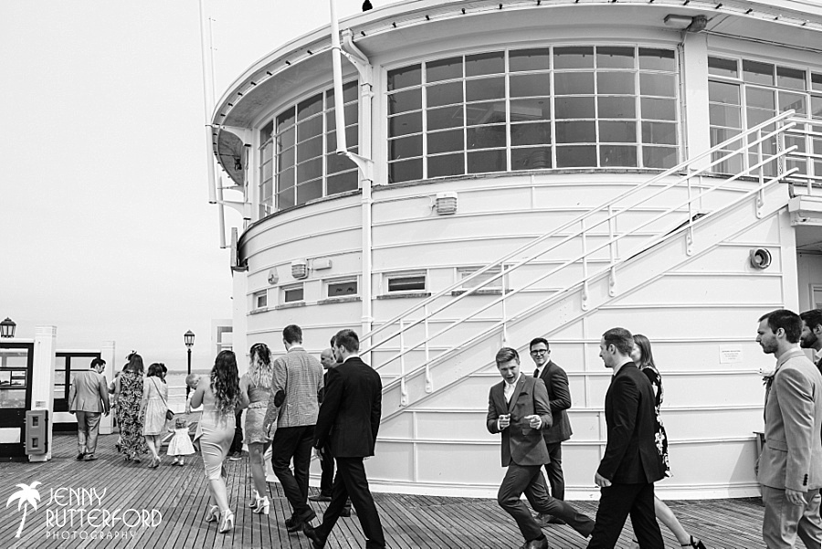 Guests at Worthing Pier Wedding
