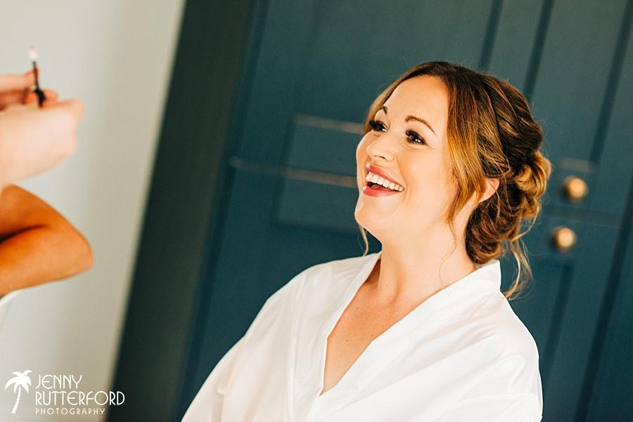 Bridal prep before Brookfield wedding