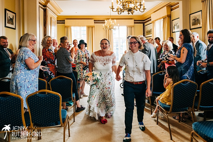 Same sex wedding at Edes House Chichester