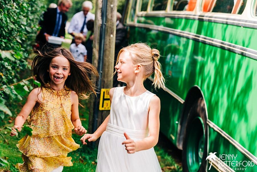 Flower girl, Chichester wedding