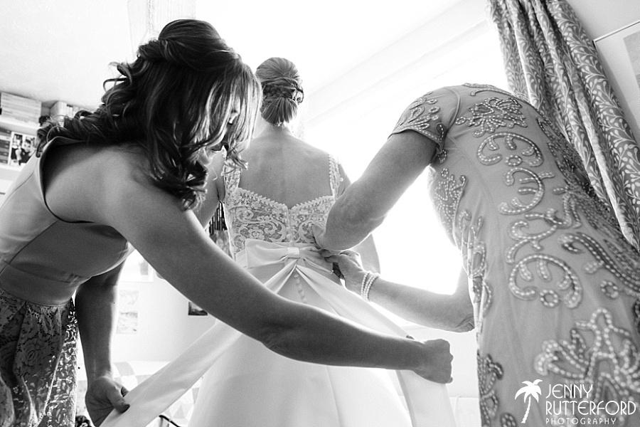 Bridal prep before Bartholomew Barn wedding