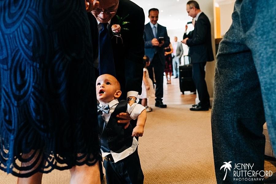 Pageboy at Brookfield Barn wedding