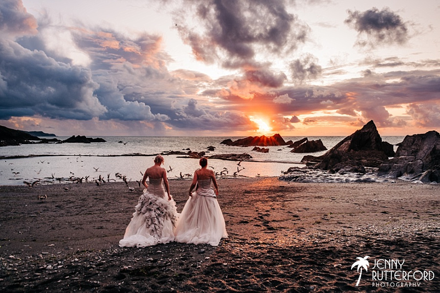 Same sex wedding at Tunnels Beaches