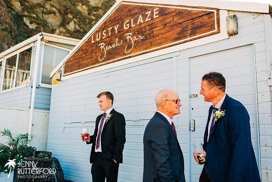 Natural candid photography at Lusty Glaze Beach Wedding
