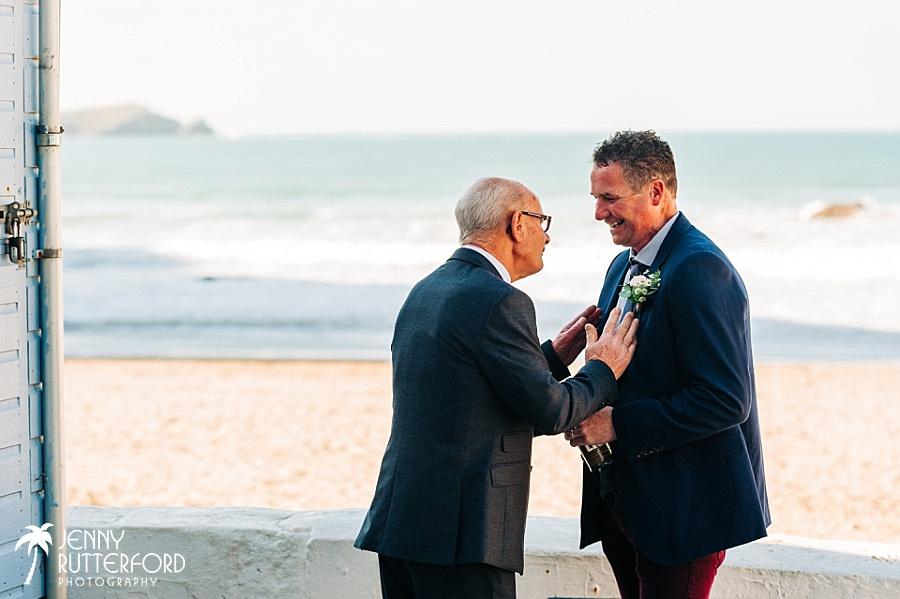 Documentary photographer at Lusty Glaze Beach Weddings