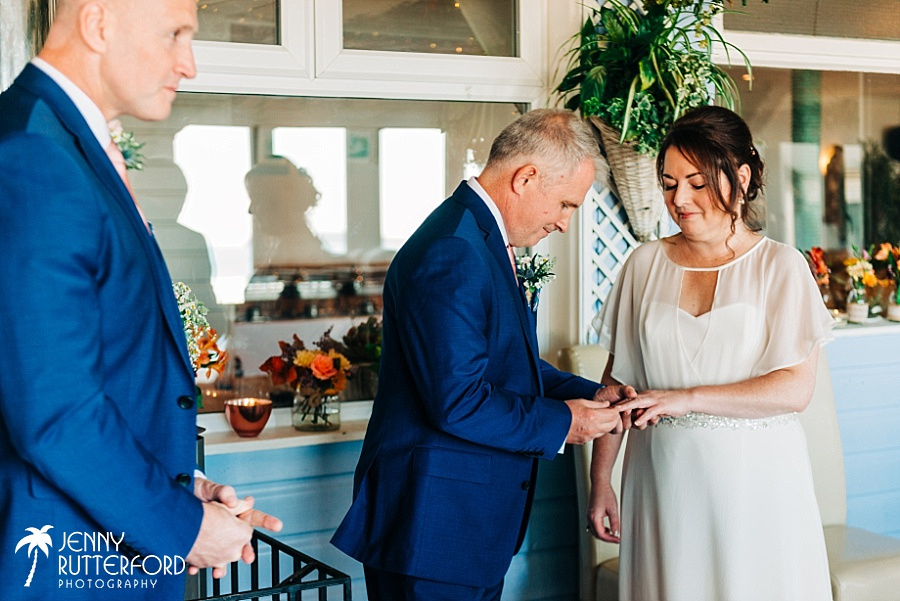 Documentary photographer Lusty Glaze Beach Wedding Cornwall