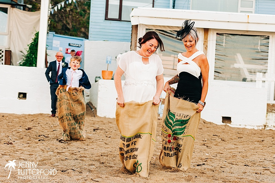 Lusty Glaze Beach Wedding candid photography