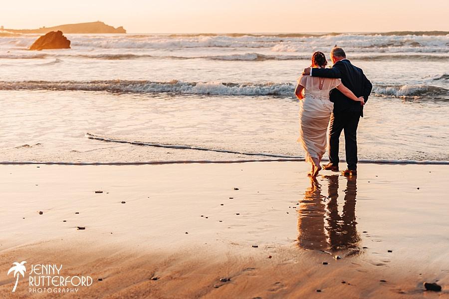 Natural wedding photographer Lusty Glaze Beach