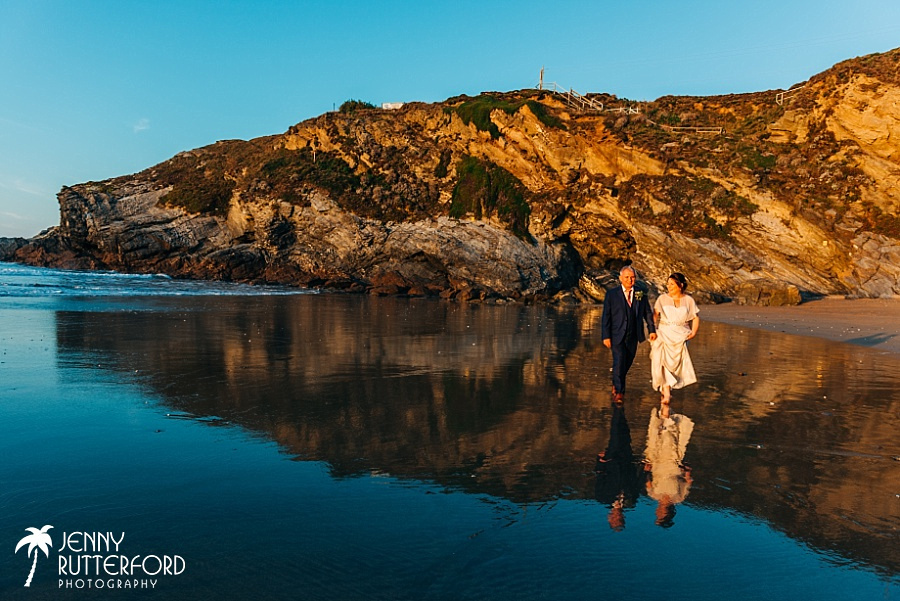 Lusty Glaze Beach natural Wedding photography
