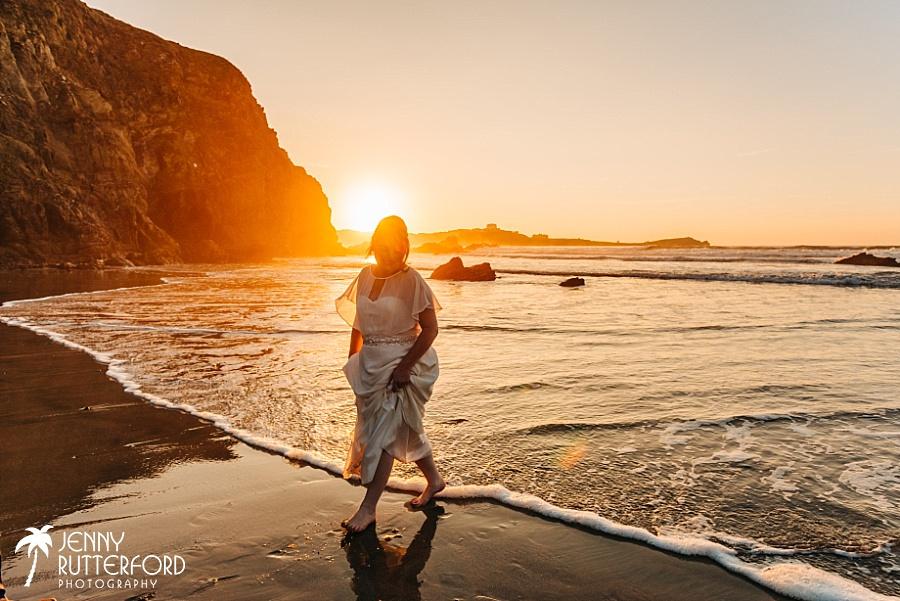 Beautiful natural wedding photography Lusty Glaze Beach