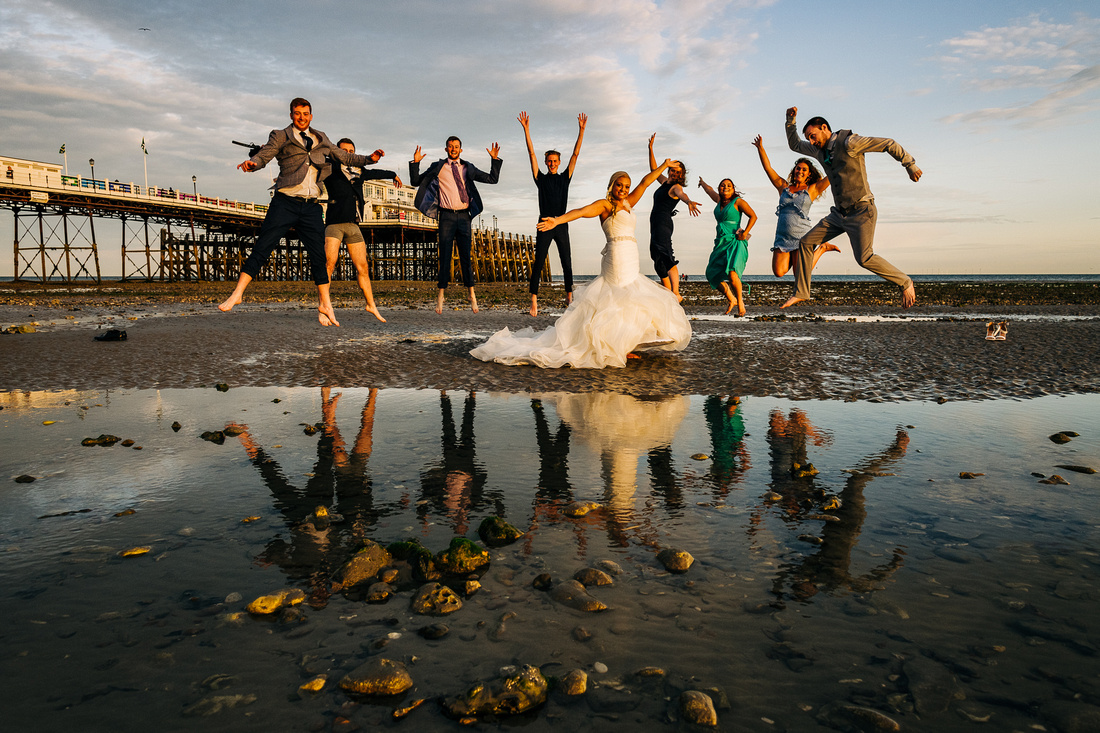 Fun, relaxed wedding photography West Sussex