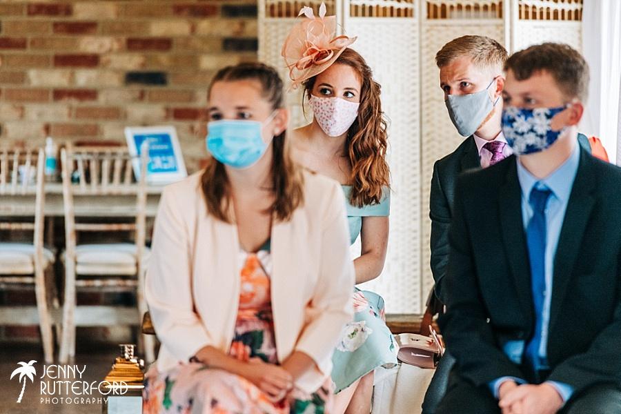 Long Furlong Barn small wedding during Covid-19 pandemic