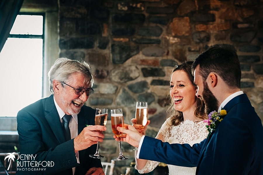 Champagne toasts at Walton Castle