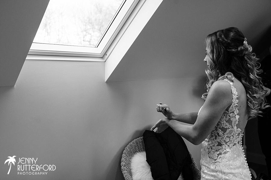Bridal preparations before Brookfield Barn wedding