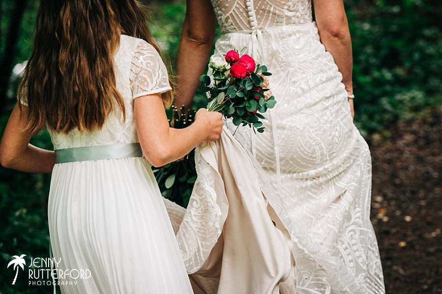 Bride and bridesmaid at Two Woods Estate wedding