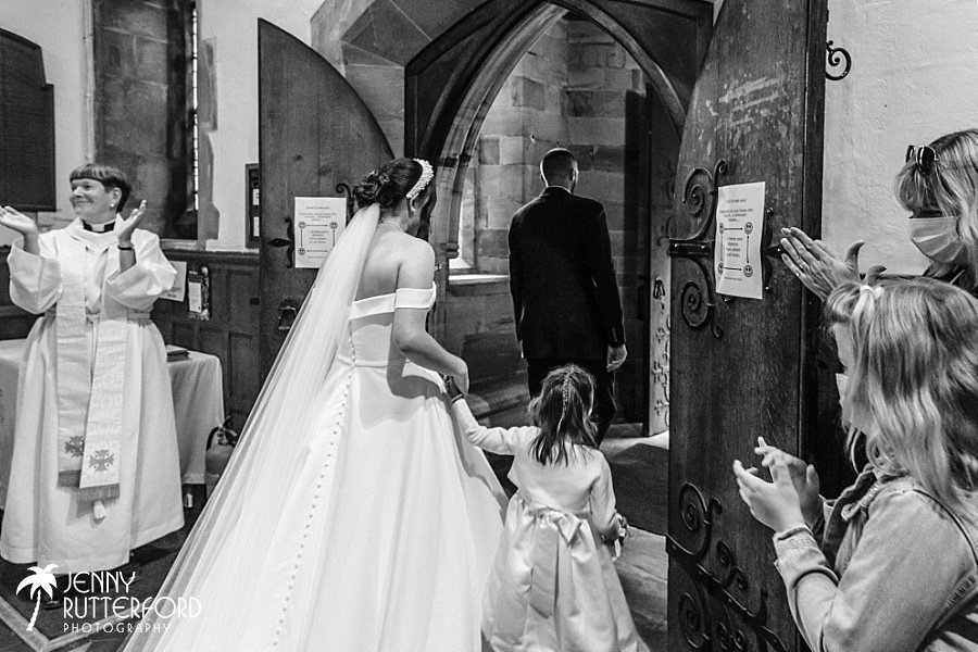 Church and marquee wedding West Sussex