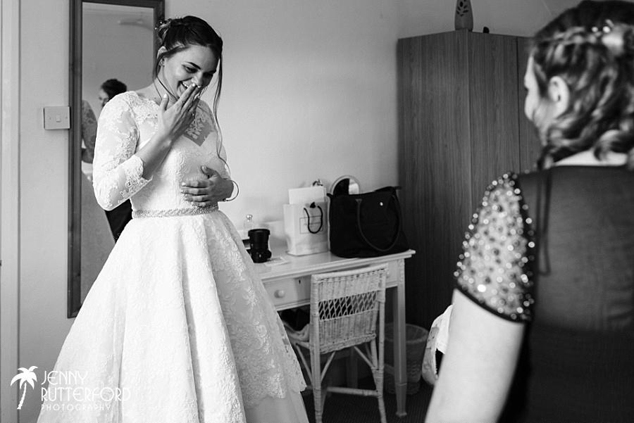 Bridal preparations before Long Furlong Barn wedding