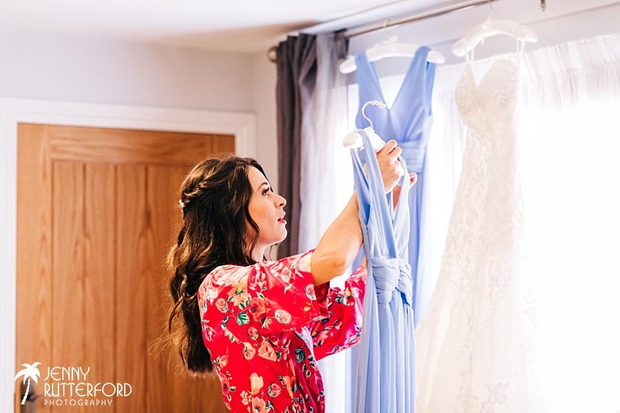 Long Furlong Barn Wedding - bridal suite