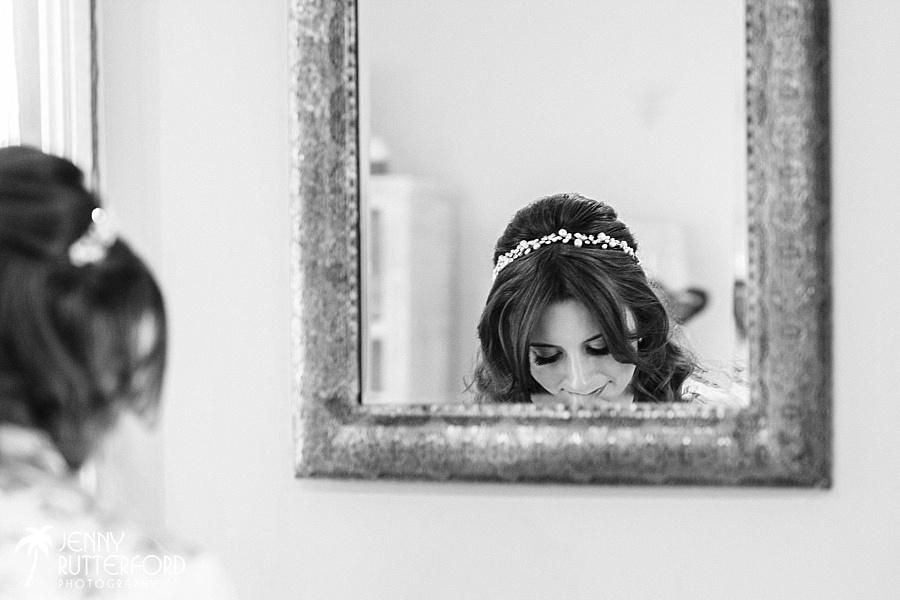 Long Furlong Barn Wedding - bride in bridal suite
