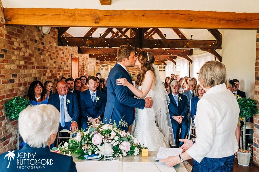 Long Furlong Barn Wedding ceremony
