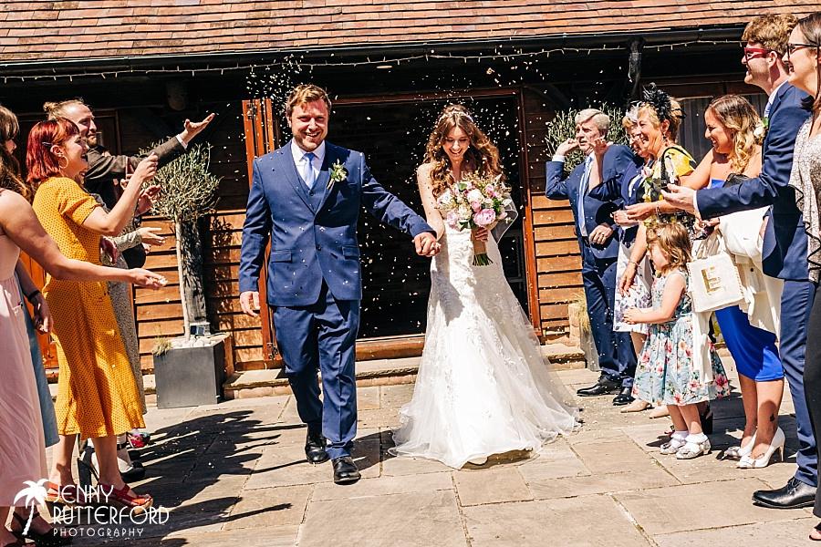 Long Furlong Barn Wedding - confetti arch