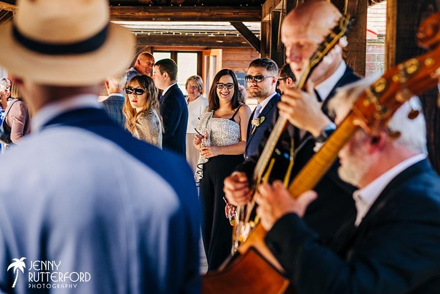Long Furlong Barn Wedding reception in courtyard