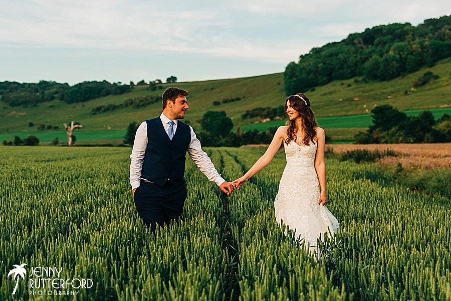 Long Furlong Barn Wedding - bride and groom