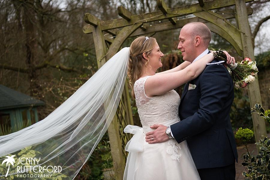 Bartholomew Barn Wedding:   The veil
