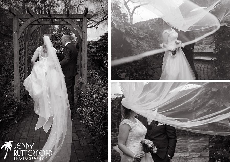 Bartholomew Barn Wedding:  bride's veil