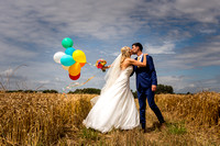 Wedding with balloons West Sussex