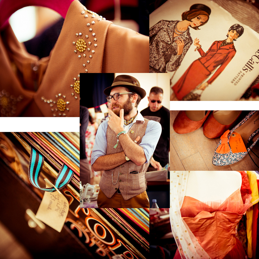 70s Orange and Brown at Johnny Loves June Vintage Fair, Shoreham-by-Sea.  Images by Sussex Wedding Photographer, Jenny Rutterford Photography.