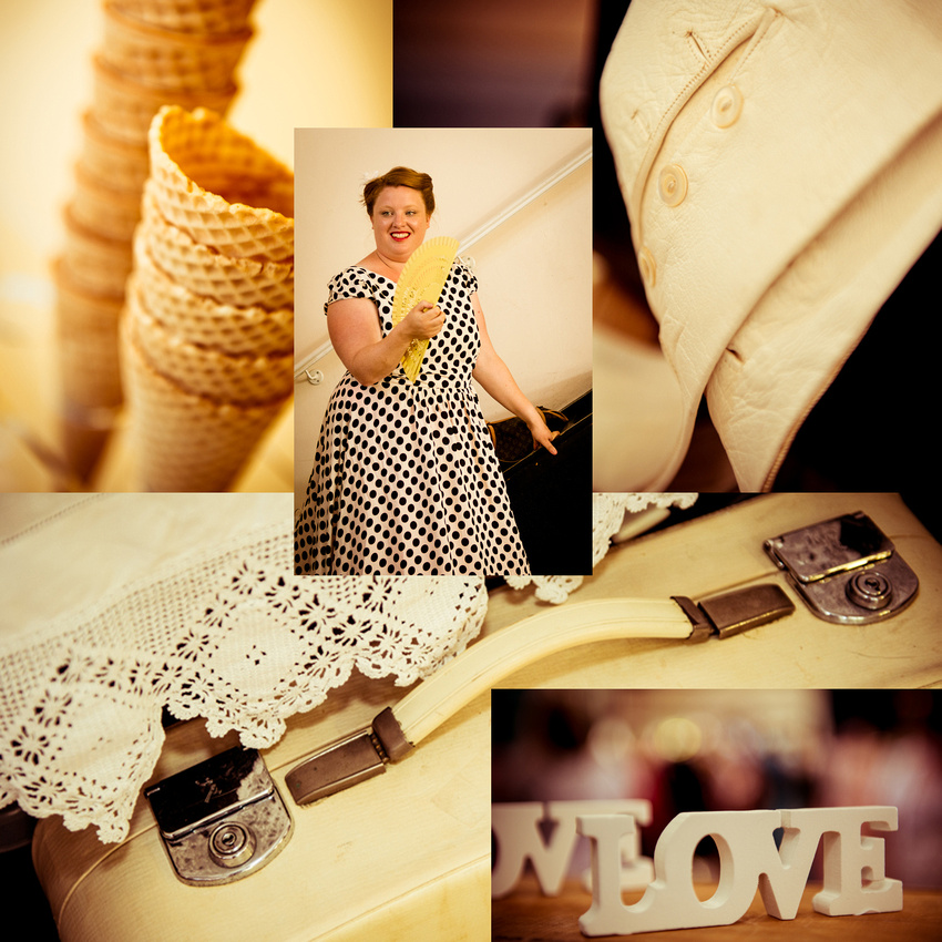 Buttery creams at the Johnny Loves June Vintage Fair, Shoreham-by-Sea.  Images by Sussex Wedding Photographer, Jenny Rutterford Photography
