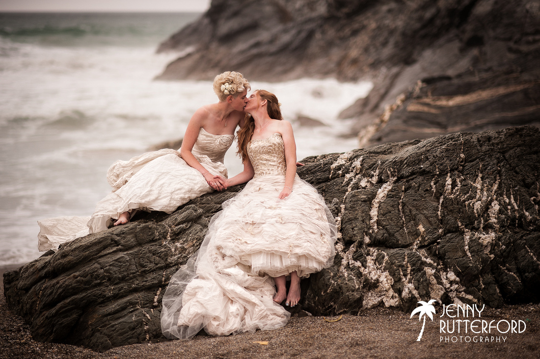 Beautiful, natural beach wedding photography