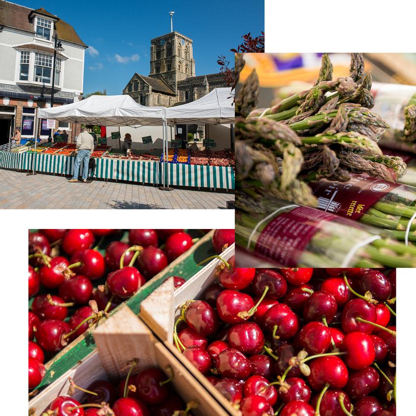 Fresh produce at Shoreham
