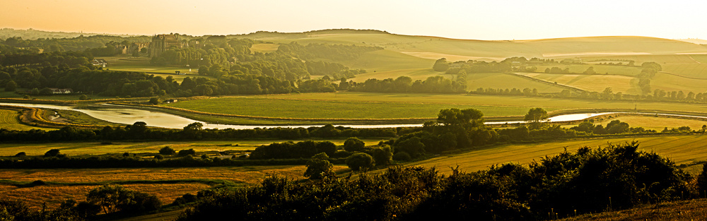 Panoramic view of the Adur River from Mill Hill, Shoreham-by-Sea.  Image by Jenny Rutterford Photography
